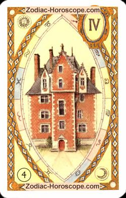 The house astrological Lenormand Tarot