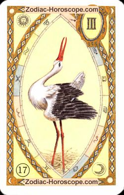 The stork, monthly Love and Health horoscope March Aries