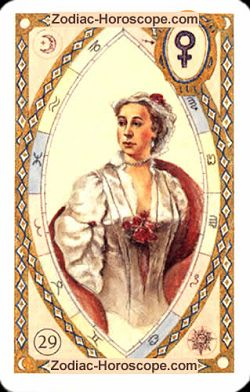 The lady astrological Lenormand Tarot