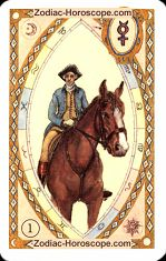 The rider astrological Lenormand Tarot