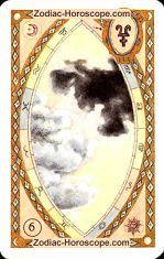 The clouds astrological Lenormand Tarot