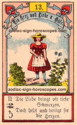 The child antique Lenormand Tarot