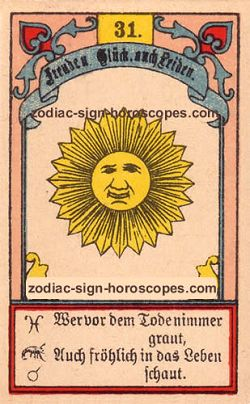 The sun, monthly Aries horoscope July